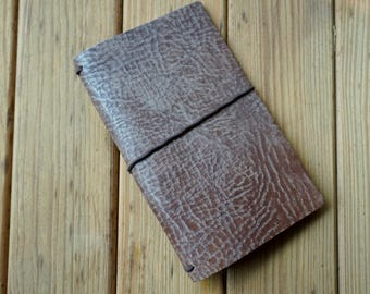 Aztec Brown Traveler's Notebook Leather - Pliable - Textured - Limited Quantity