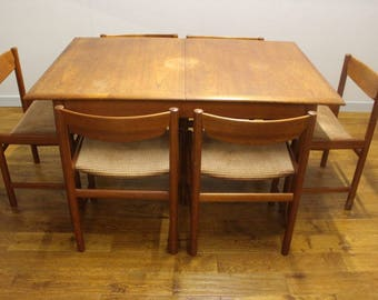 Mid Century Dalescraft Dining Table and 6 Dining Chairs