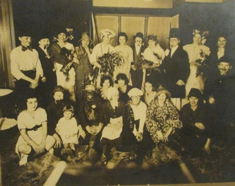 Antique 1800s Vaudeville / Theatre Troupe Cabinet Photo / Circus Performers (Z27)