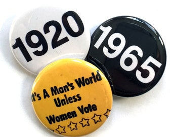 1920 / 1965 - 19th Amendment & Voting Rights Act - Pinback Button Pack