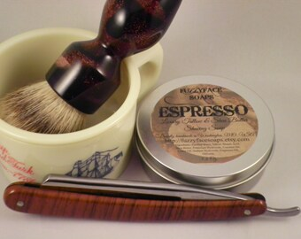 ESPRESSO Luxury Tallow and Shea Butter Shaving Soap