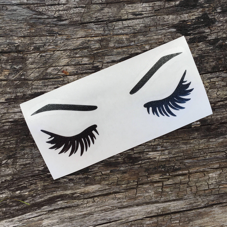 Design t shirt esthetician - Eyelash Eyebrow Decal Sticker Car Cup Decal Beauty Stickers Makeup Lashes Lash Life Esthetician Beauty Blogger