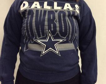 1992 Vintage Dallas Cowboys Navy Sweatshirt