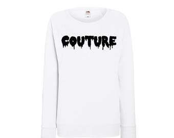 Fun Sweaters with text, courture available in four different colors