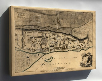 Canvas 24x36; Map Of Fortifications Of Montreal Canada 1768