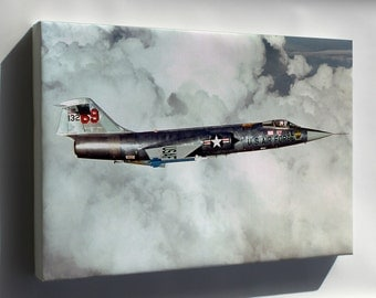 Canvas 24x36; F-104 Starfighter