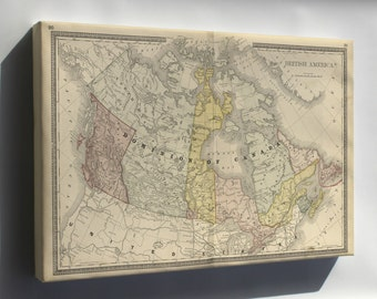 Canvas 24x36; Map Of Canada 1881