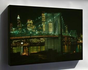 Canvas 24x36; Brooklyn Bridge C1982