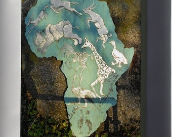Canvas 24x36; Africa Plaque P Zoo