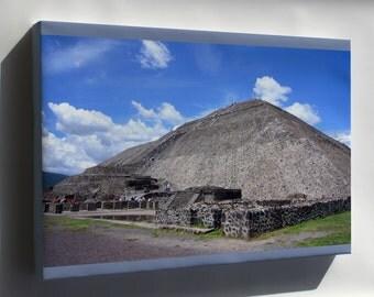 Canvas 16x24; Pyramid Of The Sun Pirámide Del Sol, Teotihuacán, México