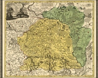 16x24 Poster; Map Of Lithuania 1778 In Latin