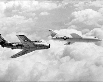 16x24 Poster; Douglas D-558-2 And The North American F-86 Sabre