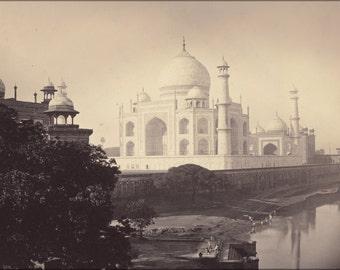 16x24 Poster; Taj Mahal, Agra, India 1870
