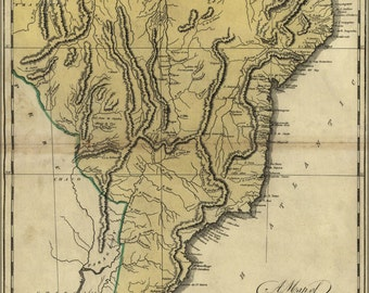 16x24 Poster; Map Of Brazil, Now Called New Portugal 1814
