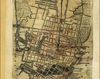 16x24 Poster; Map Of Charleston South Carolina 1864