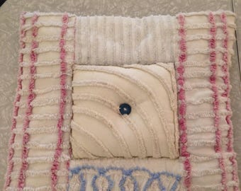 Cute vintage chenille pillow