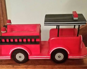 FIRETRUCK  squirrel or bird feeder Made to order ONLY