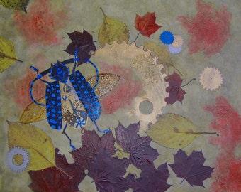 Fantasie schilderij 'Edged Time' / Fantasy painting 'Edged Time'