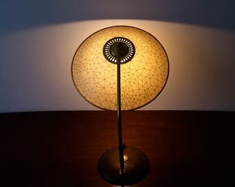Mid century table lamp - TEMDE - table lamp - brass umbrella lamp, lamp