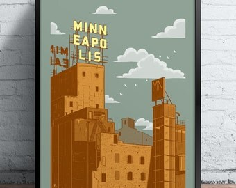 Minneapolis Gold Screen Printed Poster