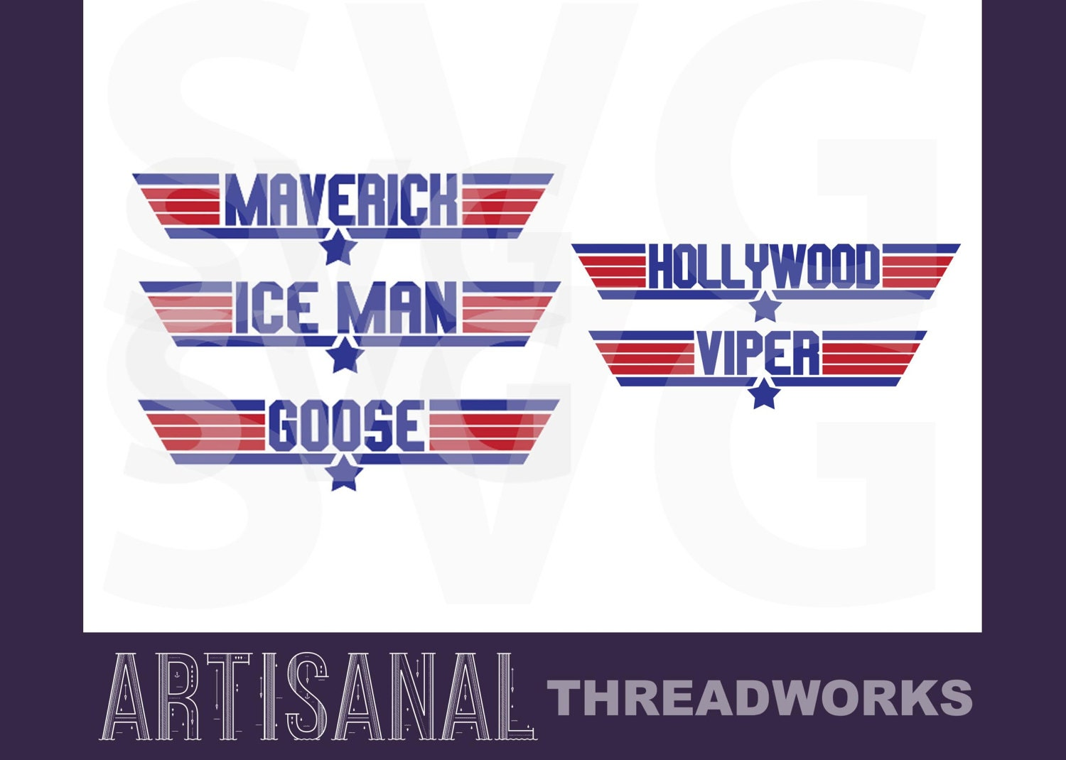 top gun font svg cutting files maverick  ice man  goose  hollywood  and viper svg from