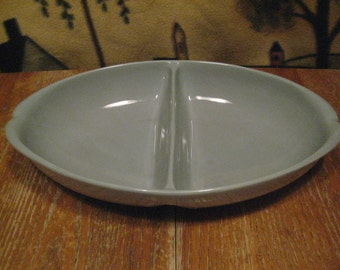 Vintage Divided Serving Dish, Blue Pottery - Beautiful Piece