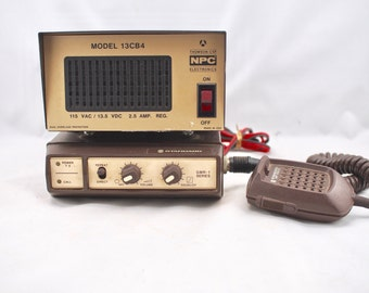 Vintage Standard CB Radio GMR-1 Series and NPC Power Supply Model 13CB4