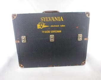 Vintage Sylvania Electronic Tubes TV-Radio Serviceman Wooden Tool Box