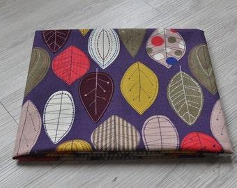 cute colorful leaf Fabric 1/2 yard purple