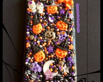 HALLOWEEN phone case, KAWAII phone case, Halloween iPhone case, kawaii Samsung case, kawaii decoden case,  bling phone cover, 3D phone case