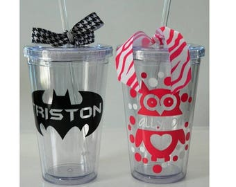 Custom Personalized 20oz Tumbler with FREE Vinyl Decal Name