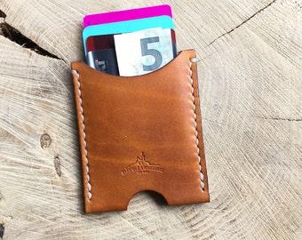 Étui cuir porte cartes minimaliste personnalisable