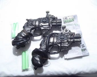 Steampunk Gun Nerf Gun LARP cosplay replica weapon: 2 handpainted customised Zombie Strike working Nerf guns with punked bag FREE P&P in UK