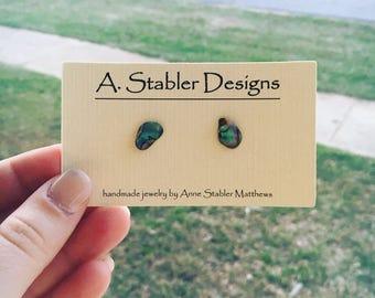 Abalone Shell Stud Earrings