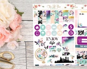 Live Boldly Base Kit (2 pages) : Decorating Kit - Life Planner Stickers ~