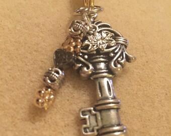 Mixed metals Lariat necklace