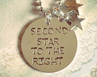 Second star to the right necklace