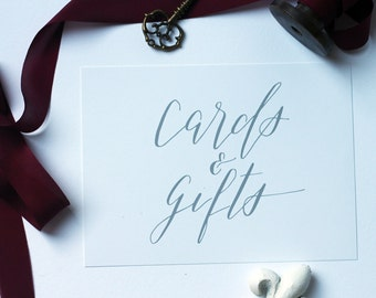 Calligraphy Cards and Gifts Sign - Wedding Day