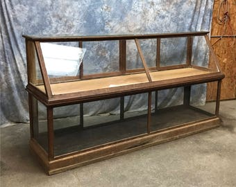 8' Showcase Slant Glass Countertop Counter Country Hardware Store Display Case