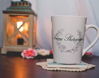 Personalized mug,gift for her, logo mug, coffee cup, custom logo mug, gift for mom, teacher gift