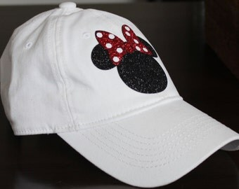 Womens Disney Hat, Minnie Baseball Hat, Minnie hat, Disney hat, Disney Baseball hat, Minnie,
