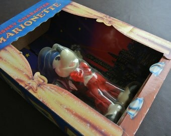 Vintage Puppet, Original Box, 1990  Helm Toy Co., Mickey Mouse Marionette