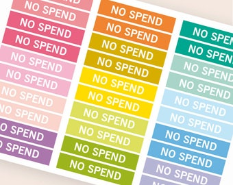 No spend Heading stickers, planner header stickers, planner stickers, agenda notebook journal stickers, reminder holidays