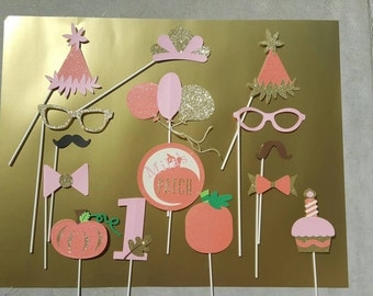 Personalized Pumpkin Patch Birthday Photo Booth Props