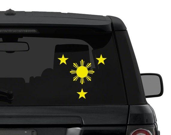 Philippines Flag Sun And  Stars Filipino Vinyl Decal Sticker - Car sticker decals philippines