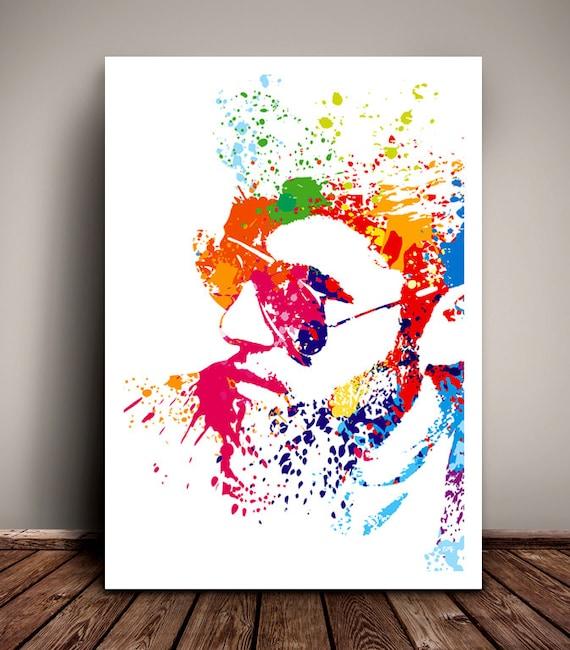 George Michael // Faith // Paint Splatter Unique A4 / A3 Art Print