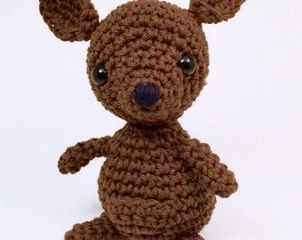 crochet amigurumi Kangaroo toy, Stuffed Toy, Plush, Plushy, Stuffed Animal, Toy, Stuffed kangaroo, baby toy, Baby Shower Gift, crochet