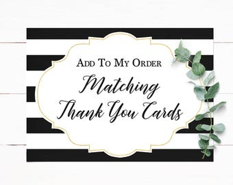 Matching Thank You Customized to Match Your Invitation