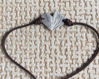 Bracelet with leaf of gingko