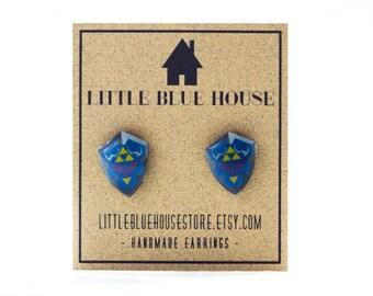 Hylian Shield Earrings Stud Earrings The Legend of Zelda Jewelry Accesories Hypoallergenic Earrings Nintendo Earrings Gift Idea